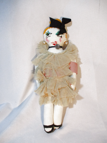 NEW Ltd Edition 2011 LANVIN Fabric Rag DOLL Couture Ragdoll BEIGE RUFFLE