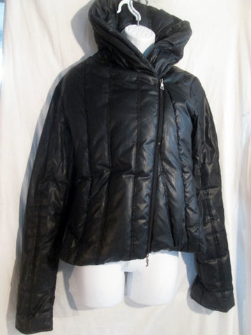 Womens GUESS Down PUFFER Ski Snowboard  JACKET Coat BLACK S Parka Winter Warm!