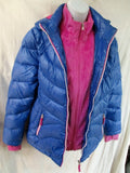 Girls Junior FREE COUNTRY GIRL Down Jacket Coat Winter Puffer PURPLE 16 PINK