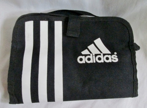 ADIDAS Signature Logo Organizer Toiletries Cosmetics Travel BAG BLACK WHITE