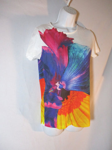 NEW JIL SANDER COLORFUL FLOWER FLORAL T-Shirt Tee M Top BRILLIANT!