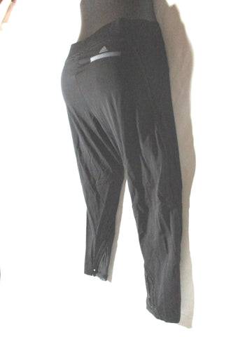 ADIDAS STELLA MCCARTNEY 3/4 RUN TIGHTS Legging 36 BLACK Pant