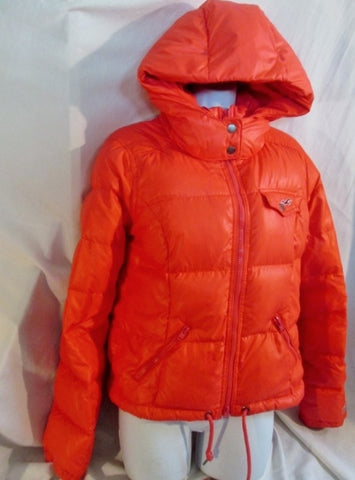 Womens HOLLISTER Snowboard Ski Jacket Coat Down Puffer M PINK NEON CALIFORNIA