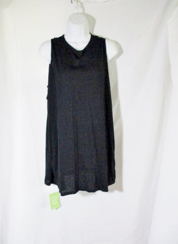 NWT NEW GIVENCHY PARIS FLUID Jersey Dress Top S BLACK Cut Open