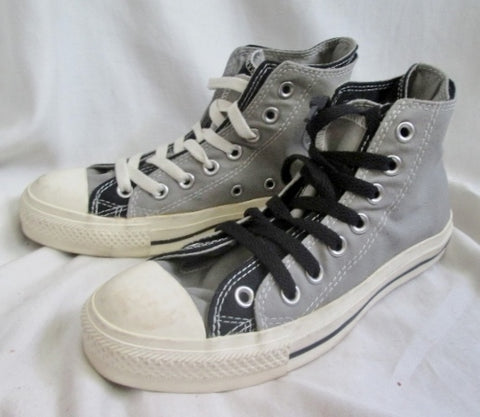 CONVERSE ALL STAR Chucks Hi-Top Sneaker Trainer Athletic Shoe BLACK GRAY M5 W7