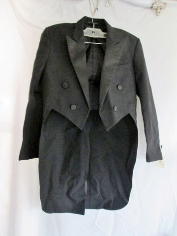 Boys NEIL ALYNN FORMAL COLLECTION Tuxedo Sport Jacket Suit Blazer Tails 14 BLACK