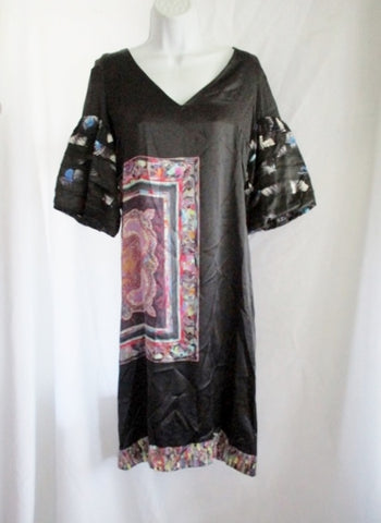 NEW NWT DRIES VAN NOTEN DJAMILLA Silk Dress 38 6 BLACK MULTI Abstract