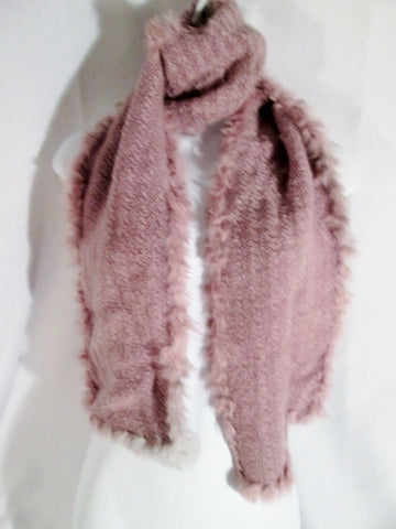 Womens ANGORA/ACRYLIC BRAND Plush Scarf Boa Neck Warmer PURPLE LAVENDER