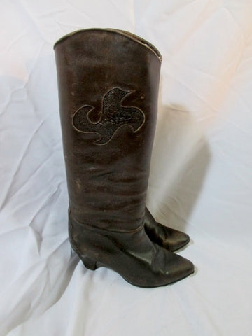 Womens MADE IN ITALY Knee High LEATHER BOOT CHOCOLATE BROWN 38 / 7.5
