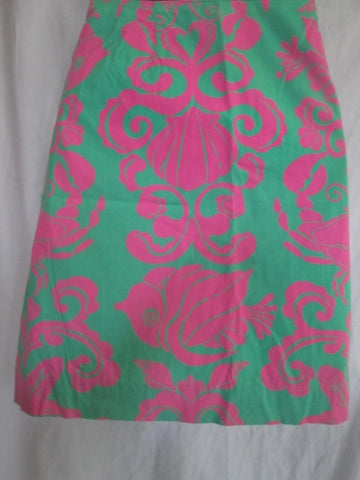 Womens LILLY PULITZER Cotton Mini SKIRT FISH SHELL GREEN 6 Mermaid Style
