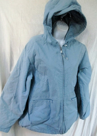 Womens EDDIE BAUER Hooded JACKET Coat Snow Ski Nylon LAVENDER PURPLE XL