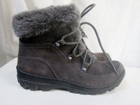 Womens BARE TRAPS DEELYA Lined Ankle Snow Rain BOOT Shoe GRAY 8
