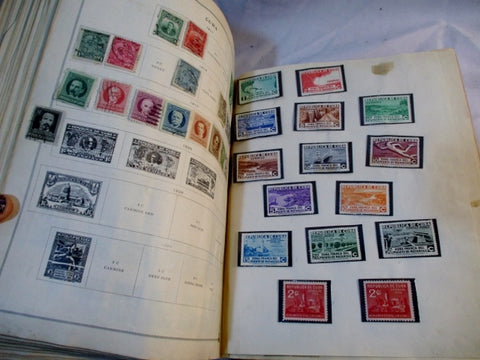 RARE 1800s - 1920s INTERNATIONAL JUNIOR POSTAGE STAMP Album  stamps!