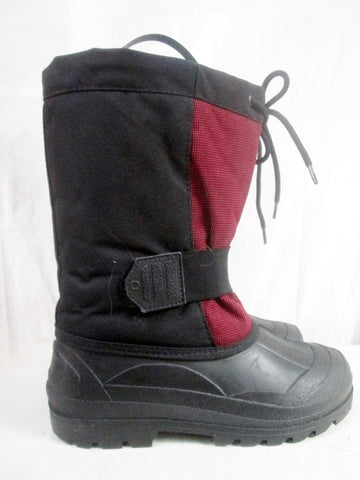 Boys Girls RUGGED OUTBACK Waterproof Rain Snow Boots Winter BLACK 7 RED