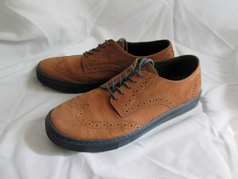 Mens MR. B'S FOR ALDO Suede Wingtip Oxford Leather Shoe 9 Derby BROWN