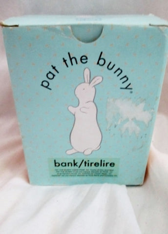 NEW NIB Pat The Bunny Rabbit Still Bank Original Ceramic Baby Nursery Applause