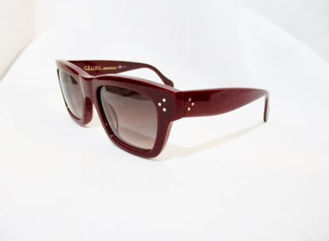 NEW CELINE PARIS ITALY POLARIZED SUNGLASSES SC 1732 RED Burgundy Womens
