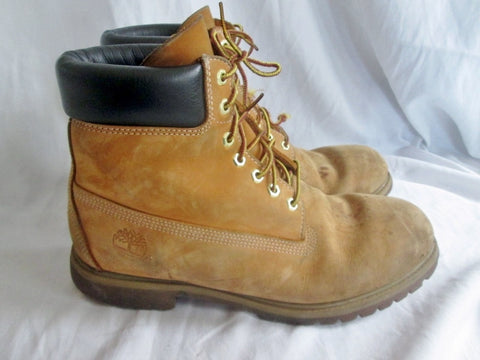 Mens TIMBERLAND 10061 WATERPROOF Leather HIKING Work Boots Trek BROWN WHEAT 11
