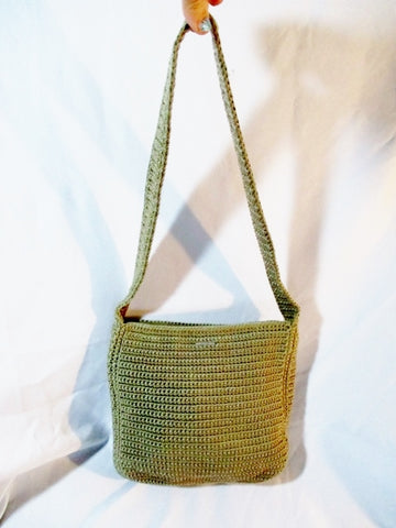 THE SAK Hobo Shoulder Bag Crossbody Macrame Knit CROCHET BEIGE TAN Boho