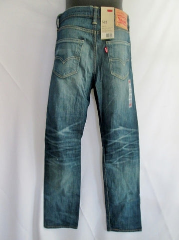 NEW NWT Mens Womens LEVI'S 522 SLIM TAPER Denim Jeans PANTS 29 X 30 BLUE Trousers