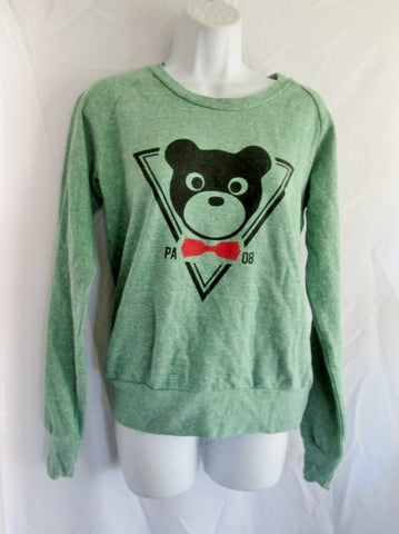 Womens PROFOUND AESTHETIC SWEATSHIRT Jacket S GREEN Panda BEAR Cute
