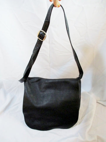 COLOMBIA leather messenger satchel shoulder hobo flap bag man purse BLACK saddle