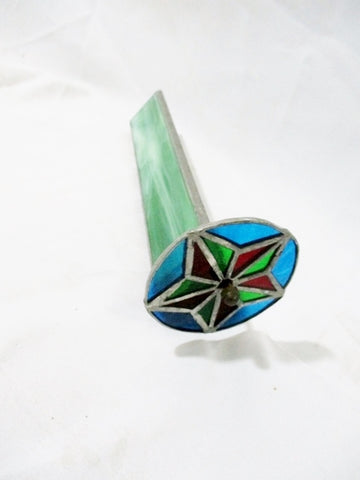 Handmade MOVING STAINED GLASS Starburst KALEIDOSCOPE Arts & Crafts 12""