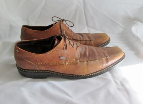 Mens BUGATTI Wingtip Oxford Leather Shoe 43 / 10 Derby BROWN Square Toe