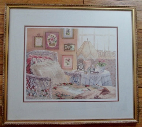 SIGNED ERIN DERTNER GOLDEN MOMENTS DAYDREAM COTTAGE Frame Picture ART Ltd