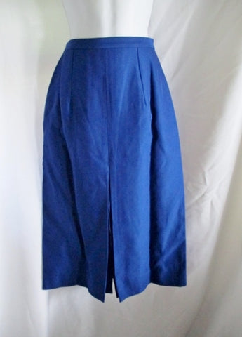 NEW NWT CELINE Pleated Pencil SKIRT 36 4 COBALT BLUE ROYAL Silk