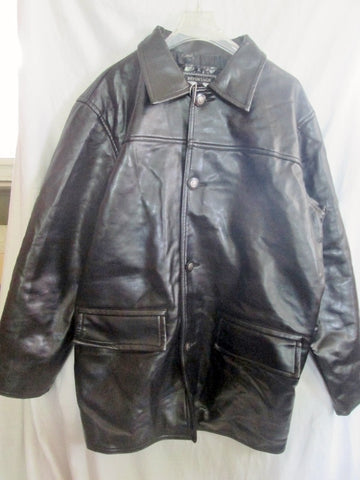NEW NWT Mens REA REPORTAGE Faux Leather Jacket Riding Coat BLACK XXL Moto