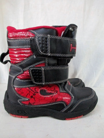 Toddler Kids TONY HAWK Insulated Waterproof Rain Snow Boots Winter 1 BLACK RED