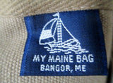 MY MAINE BAG LIGHTHOUSE Canvas Leather Satchel TOTE Bag NAUTICAL Sea Ocean