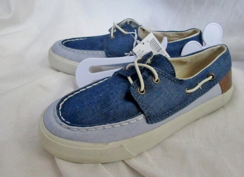 NEW Kids Boys Youth Junior CHILDREN'S PLACE Vegan Boat Shoe 1 BLUE Nautical