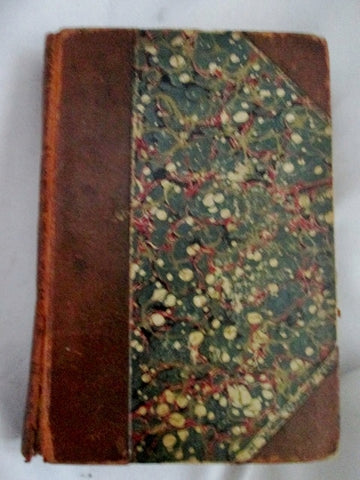 Antique 1831 THE PIRATE Sir Walter Scott Leather Book RARE BROWN Gilt Lovell Classic