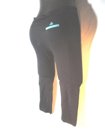 NEW ADIDAS STELLA MCCARTNEY 3/4 SL TRAVEL TIGHT Legging S BLACK Pant Capri