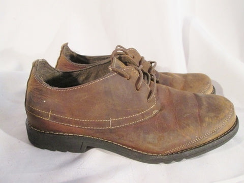 Mens Timberland Smart 37511 Leather Brown Work Shoes 8 5 Oxford