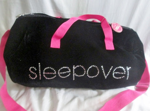 BSG BEACON STREET GIRLS SLEEPOVER Vegan Duffle Bag Overnighter BLACK VELVET