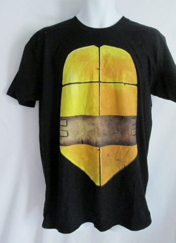 NEW NWT Mens TEENAGE MUTANT NINJA TURTLES MICHELANGELO T-Shirt L BLACK