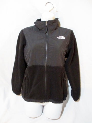 Youth Girls THE NORTH FACE FULL ZIP Fleece JACKET Coat BLACK L/G 14-16