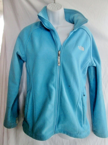Womens THE NORTH FACE FULL ZIP FLEECE JACKET Coat POWDER Light BLUE L