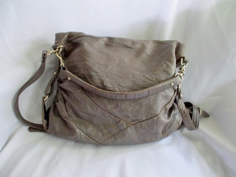 NEW NWT MS By Martine Sitbon Leather Bag Hobo Crossbody Purse GRAY Lambskin