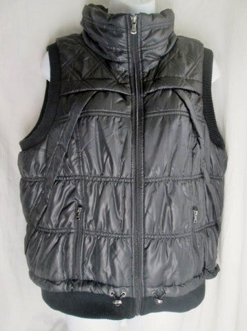 Womens CALVIN KLEIN PERFORMANCE CK Jacket Coat Winter Puffer Ski VEST L BLACK