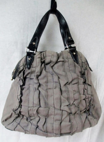 HEMPTRESS MONA SATCHEL GRAY VEGAN Bag Briefcase Shoulder Bag GRAY RUFFLE