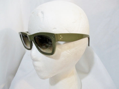 CELINE PARIS ITALY POLARIZED SUNGLASSES SC 1732 KHAKI GREEN Womens
