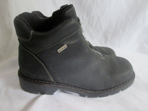 Womens SOREL CANADA Ankle Zip Up Leather Boots SHOES BLACK 9 Booties