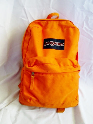 JANSPORT Travel Book BAG Backpack Rucksack Bag School NEON ORANGE