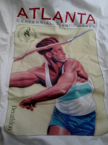 NEW Mens 1996 ATLANTA SUMMER OLYMPICS DECATHLON T-SHIRT Sports L 42-44