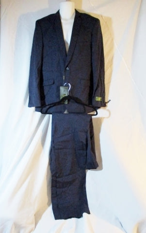 NEW COOPER NELSON Formal Suit Jacket Pant SLIM 44L / 37W BLUE NAVY Wedding NWT Mens