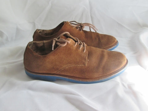 Mens POLO RALPH LAUREN Suede Wingtip Oxford Leather Shoe 9.5 Derby BROWN